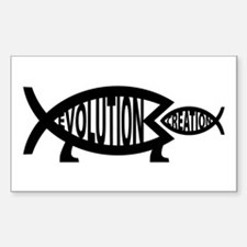 Eating Creation Rectangle Bumper Stickers