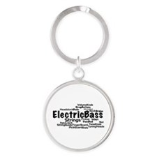 Electric Bass Word Cloud Keychains