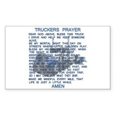 Trucker's Prayer Rectangle Decal
