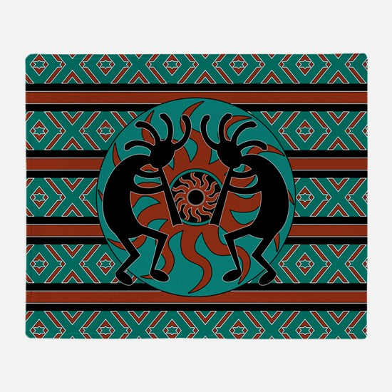 Funny Kokopelli Throw Blanket