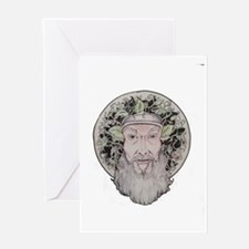 Vintage Greenman Greeting Card