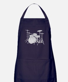 Drum Set Shaped Word Cloud Apron (dark)