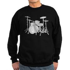 Drum Set Shaped Word Cloud Sweatshirt