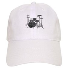 Drum Set Shaped Word Cloud Baseball Baseball Cap