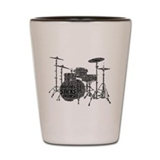 Drum Set Shaped Word Cloud Shot Glass