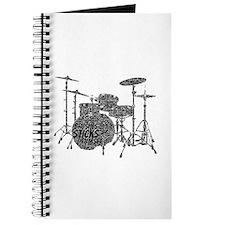 Drum Set Shaped Word Cloud Journal