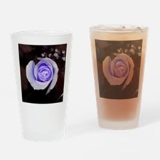 Purple rose colored flower Drinking Glass