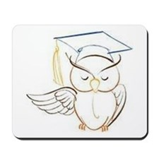 Wise Owl for the Graduate Mousepad