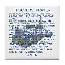 Trucker's Prayer Tile Coaster