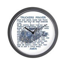 Trucker's Prayer Wall Clock