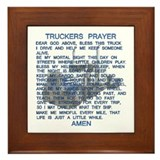Truck driver's prayer Framed Tiles