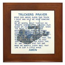 Trucker's Prayer Framed Tile