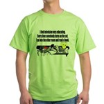 Television is Educational Green T-Shirt