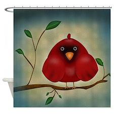 Red Bird Cardinal Shower Curtain