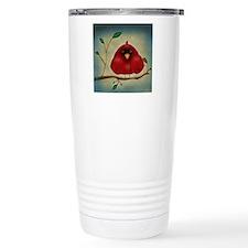 Red Bird Cardinal Travel Mug