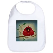 Red Bird Cardinal Bib