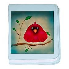 Red Bird Cardinal baby blanket
