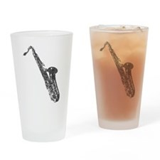 Tenor Sax Shaped Word Cloud (Black Text) Drinking