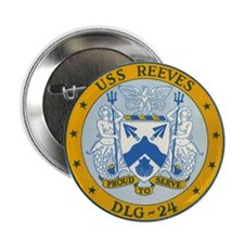 "Uss Reeves Dlg-24 2.25"" Button"