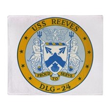 USS Reeves DLG-24 Throw Blanket