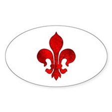 Fleur de lis Passion Oval Decal