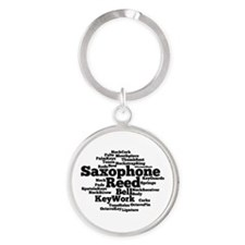 Saxophone Word Cloud Keychains