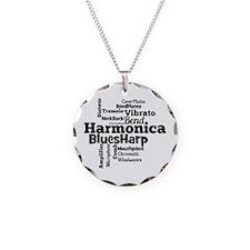 Harmonica Word Cloud Necklace