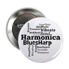 "Harmonica Word Cloud 2.25"" Button"