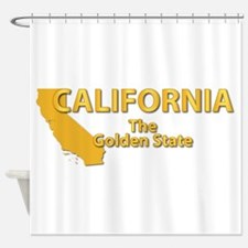 State - California - Gold State Shower Curtain