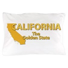 State - California - Gold State Pillow Case