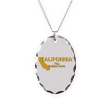 State - California - Gold Stat Necklace