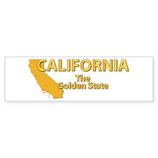 State - California - Gold State Bumper Sticker