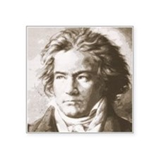 Beethoven In Sepia Sticker