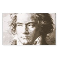 Beethoven In Sepia Decal