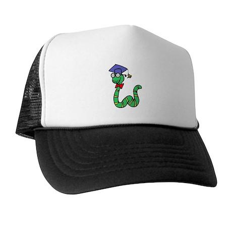 Graduating Book Worm Trucker Hat