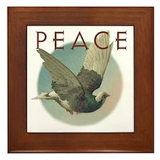 PEACE Dove Framed Tile