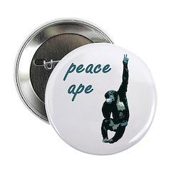 Peace Ape Pinback Button