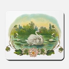 Swimming Swan Mousepad