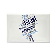 Israel Word Cloud Magnets