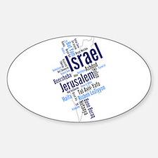 Israel Word Cloud Decal