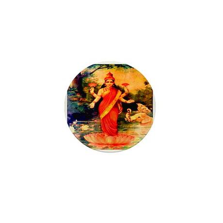 Lakshmi Goddess of Wealth, Wi Mini Button (10 pack