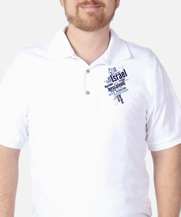 Israel Word Cloud Golf Shirt