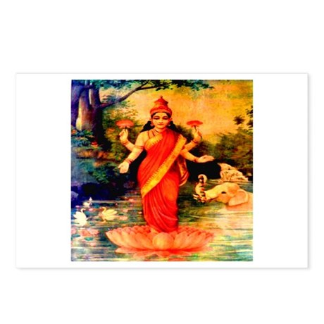 Lakshmi Goddess of Wealth, Wi Postcards (Package o