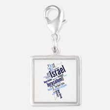 Israel Word Cloud Charms