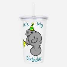 Birthday Manatee Acrylic Double-wall Tumbler