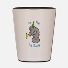 Birthday Manatee Shot Glass