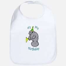Birthday Manatee Bib