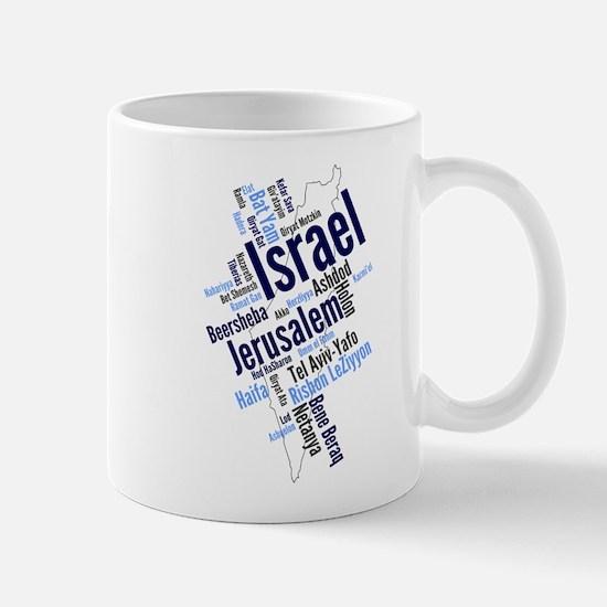 Israel Word Cloud Mugs