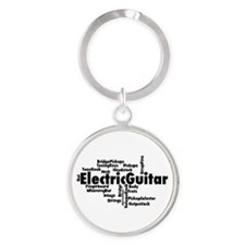 Electric Guitar Word Cloud Keychains