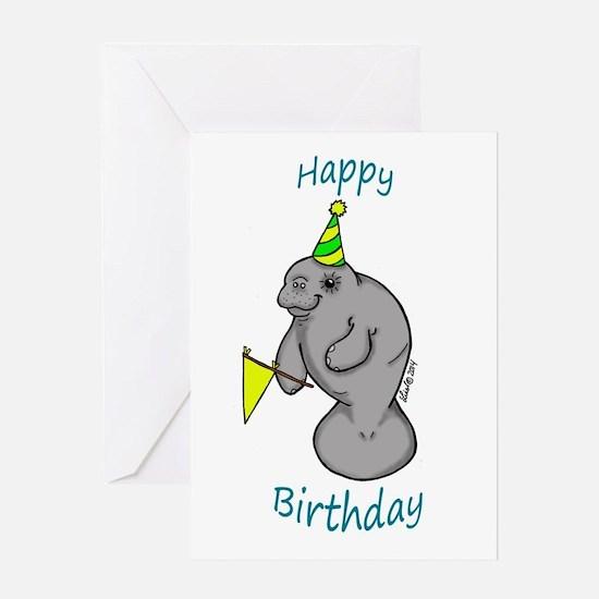 Happy Birthday Manatee Greeting Cards